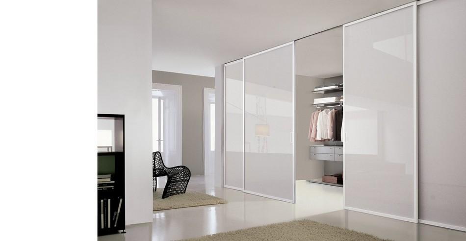 Porte per interni ikea tre pannelli skdis bianchi fissati - Porte scorrevoli per cabine armadio prezzi ...
